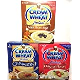 Cream Of Wheat Instant Hot Cereal-bundle Of 3 Flavors; Original 3 Packs, Cinnabon 3 Packs, Maple Brown Sugar 3...