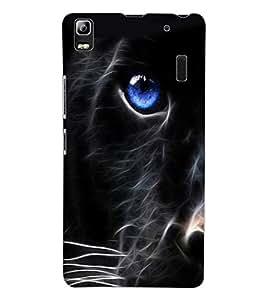 ColourCraft Cat Look Design Back Case Cover for LENOVO A7000 PLUS