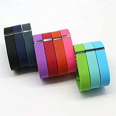 Tkasing Replacement Bands with Metal Clasps for Fitbit Flex / Wireless Activity Bracelet Sport Wristband with Silicon Fastener Ring(Replacement Bands Only)