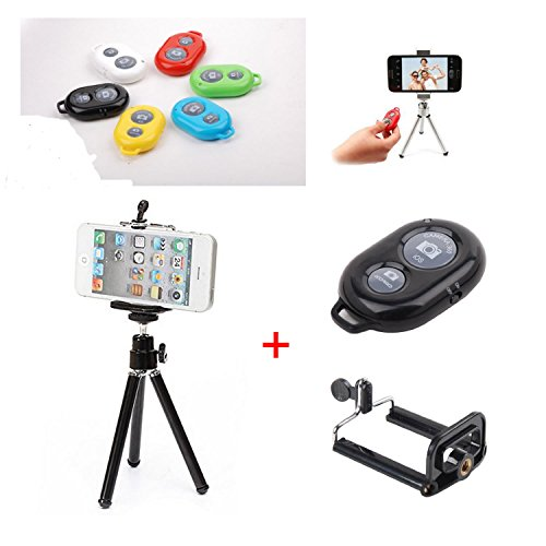 Shopping_Shop2000 Photo Shooting Kit For Iphone 5S 5C 5 4S 4 Samsung Galaxy Note Htc One Lg Sony Android Cell Phone, Retractable Universal Mini Tripod Stand Camera Video Holder Mount + Universal Adapter Holder For Iphone & Large Size Cell Phone + Wireless