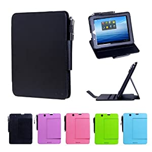 i-UniK E FUN 2013 Nextbook Premium 8HD Multi-Angle Slim Protection Case / Cover Dual Core with Google Play [NOT FIT 2014 Nextbook 7.85 / Nextbook 8] - (Black)