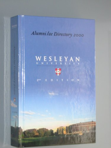 Alumni/ae Directory 2000: Wesleyan University, Alumni/ae Association