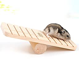 Dimart Funny Small Animal Palyground Products Natural Wood Seesaw For Mouse and Hamster