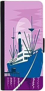 Snoogg Passenger Cargo Ship Docking Designer Protective Phone Flip Case Cover For Vibe K4 Note