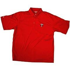 Mens Red Xtra Lite Minnesota Twins Polo Shirt w  Desert Dry (3XL) by Antigua