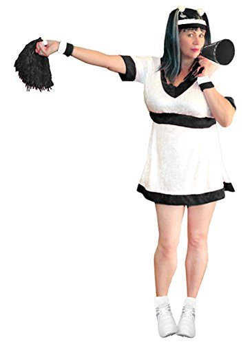 Women's Black Cheerleader Deluxe Kit Plus Size Supersize Halloween Costume Kit