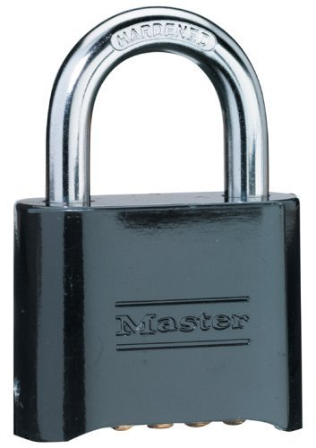 Master Lock 178D Set-Your-Own Combination Padlock, Die-Cast, Black by Master Lock
