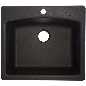 Franke Sink Cover : Franke USA ESOX25229-1 Single Bowl Sink Granite 9-Inch Deep, Onyx ...
