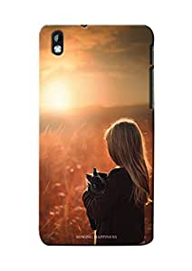 Sowing Happiness Printed Back Cover for HTC Desire 816