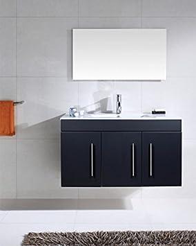 badm bel venezia schwarz seidenglanz dee48. Black Bedroom Furniture Sets. Home Design Ideas