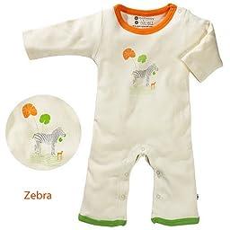 Organic Baby Soy Onepiece - Zebra (12-18 Months)
