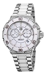 Tag Heuer Women'S Cah1213.Ba0863 Formula One White Diamond Chronograph Watch