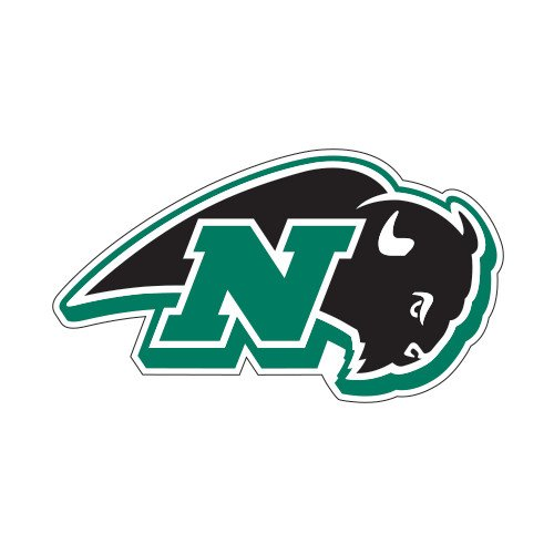 Nichols College Medium Magnet 'N W/Bison' back-620361