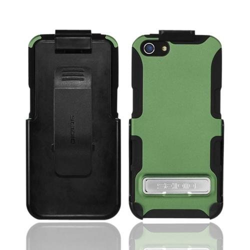 Best Price OEM Seidio Active Combo Apple Iphone 5 Rubberized Hard Cover Over Silicone W/ Kickstand & Holster - Sage Green/ Black