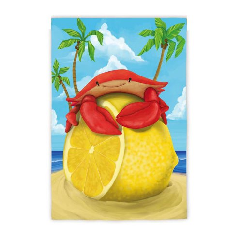 Garden Size Flag Lemon Crab