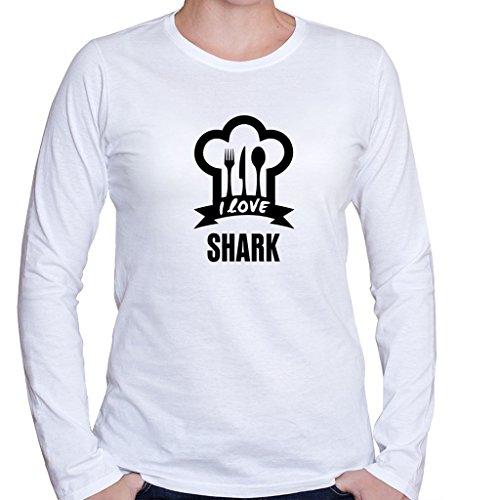 I LOVE SHARK Food Drink Vegetable Women's Long Sleeve Shirt