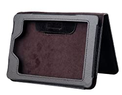 CUBIX Black Leather Flip Case Book Cover with magnetic closure for New Kindle Paperwhite (Auto wake and sleep)