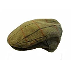 John Hanly & Co. Irish Tweed Flat Cap - Mustard Plaid - Made in Ireland