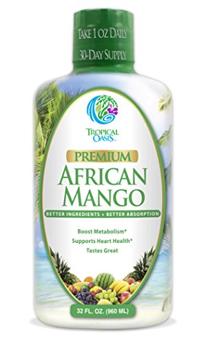 Premium African Mango - Natural Liquid African Mango Extract + CLA, Red Rice Yeast, CoQ10 & Arginine- Supports Weight Loss, Detox, & Healthy Heart Function - Non-GMO, NO Artificial Flavors - 32 Serv. (Mango Extract Weight Loss compare prices)