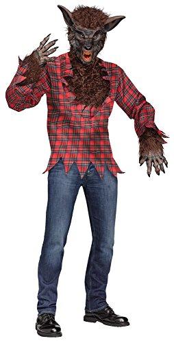 ハロウィン衣装 【メンズ】 Fun World 5409 オオカミ男のコスチューム (ブラウン ワンサイズ)