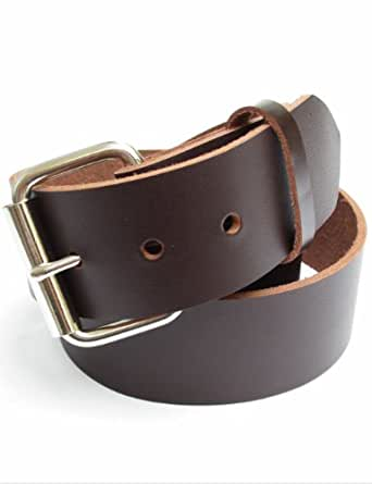 mens heavy brown leather belt 1 3 4 quot wide 30 at
