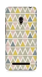 AMEZ designer printed 3d premium high quality back case cover for Asus Zenfone 5 (zig zag shape pattern)