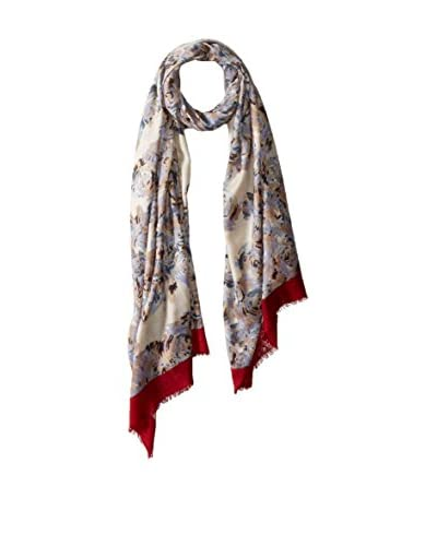 MIR Women's Patterned Scarf, Cream As You See
