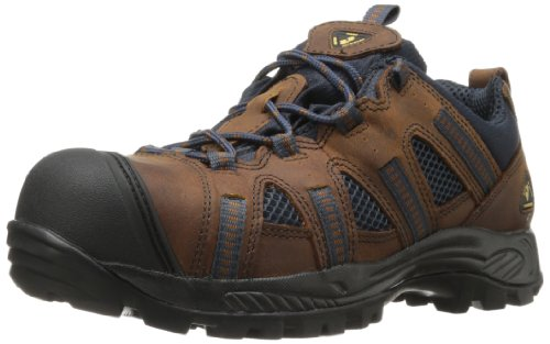 Golden Retriever Men's 1305 Composite Work Shoe,Brown/Blue,10 M US