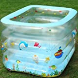 Children's inflatable baby pool Square children pool bath tub bath barrel thicken baby