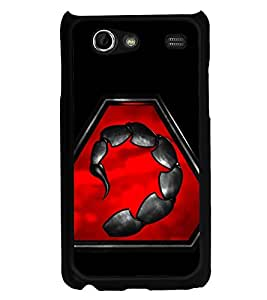 Scorpion 2D Hard Polycarbonate Designer Back Case Cover for Samsung I9070 Galaxy S Advance :: Samsung Galaxy S II Lite