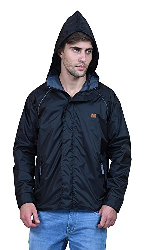 FOREST-CLUB-Gymwear-Reversible-Black-Hooded-Mens-Track-Jackets
