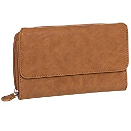 Mundi Womens My Big Fat Clutch Wallet  (Sand Textured)