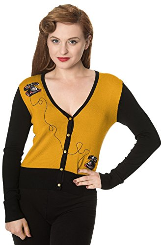 Dancing Days -  Cardigan  - Donna senape S