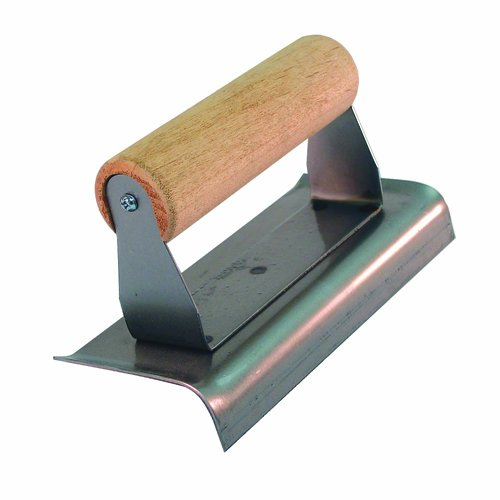 Bon 82-125 Economy 6-Inch by 3-Inch Carbon Steel Curved End Hand Edger with Wood Handle