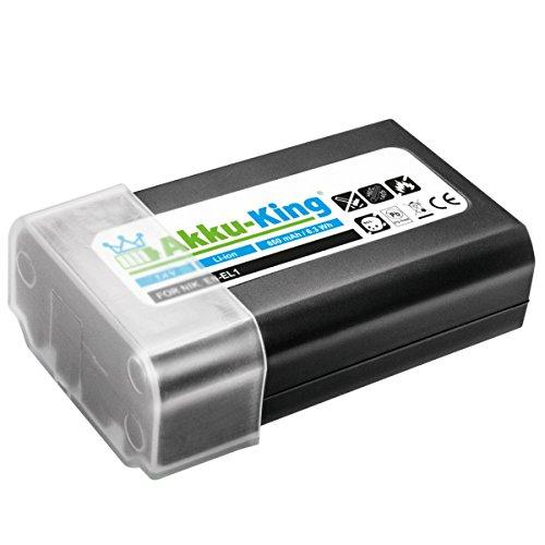 Akku-King Akku kompatibel zu Nikon Coolpix 4300, 4500, 4800, 5000, 5400, 5700, Minolta DG-5W, DiMAGE A200 - ersetzt EN-EL1, NP-800 - Li-Ion 850 mAh