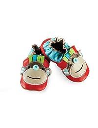 Mud Pie Baby-Boys Newborn Red Monkey Shoe Socks