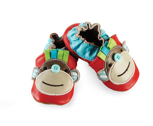 Mud Pie Baby-Boys Newborn Red Monkey Shoe Socks,