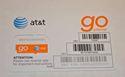 AT&T PREPAID GO PHONE 3G SIM CARD READY TO ACTIVATE, SKU 72287 (Lot of 25)