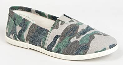 Soda OBJECT Women's Mock Tom's Slip On Canvas Linen Flats