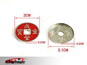 Kingmagic® Chinese Coin Sets Coin Magic Trick For Beginner