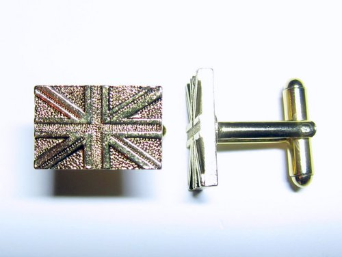 gold british flag cufflinks by classic cufflinks