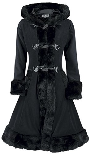 Poizen Industries Minx Coat Cappotto donna nero XL