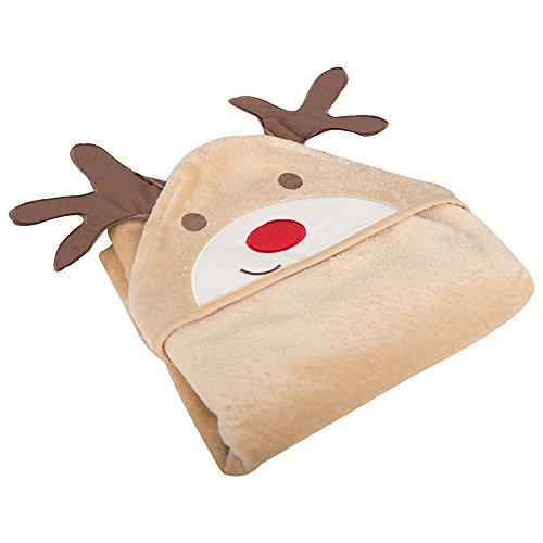 JoJo Maman Bebe Hooded Towel, Reindeer - 1