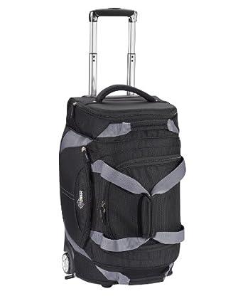 Lewis N. Clark Luggage 22 Inch Wheeled Duffel, Black, One Size
