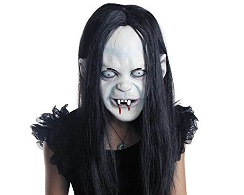 CycleMore-Latex-Creepy-Scary-Halloween-Toothy-Zombie-Ghost-Mask-Scary-Emulsion-Skin-with-Hair