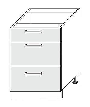 k chenschrank unterschrank 60 mit schubladen dc751. Black Bedroom Furniture Sets. Home Design Ideas