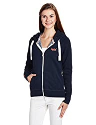 Superdry Women's Cotton Jacket (G20012XNF4_Eclipse Navy_L)