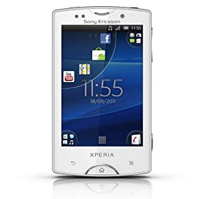 Sony Ericsson Xperia mini pro Smartphone (7,6 cm (3 Zoll) Display, QWERTZ-Tastatur, Touchscreen, 5 MP Kamera, Android 2.3 OS) weiß
