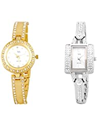 Watch Me MULTI Combo Set Of 2 Analogue Watches Gift For WOMEN WMAL-121G-117S