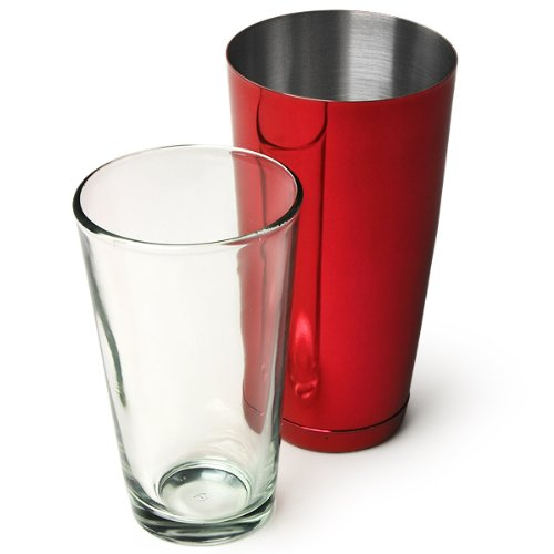 Professional Boston Cocktail Shaker Red (Tin